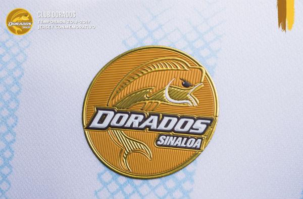El uniforme será todo en blanco, con vivos en dorado y líneas albocelestes. FOTO: @Dorados