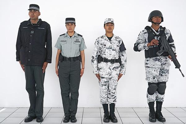Así serán los uniformes de la Guardia Nacional. FOTO: CUARTOSCURO