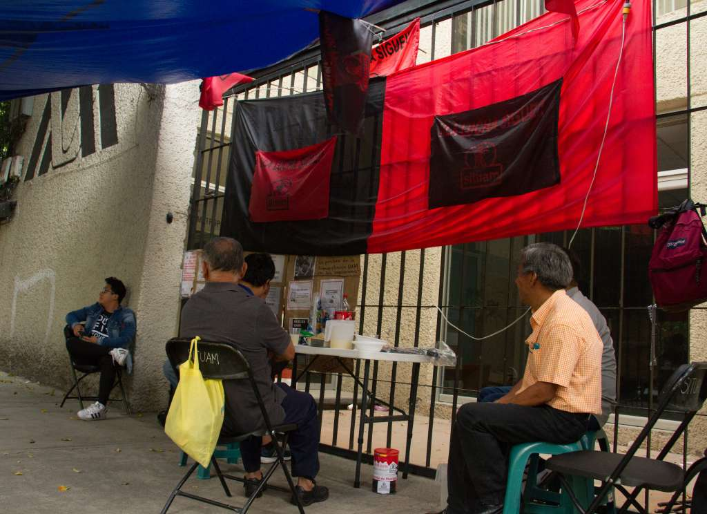 Trabajadores de la UAM mantiene su huelga que cumple 82 días. Foto: Cuartoscuro