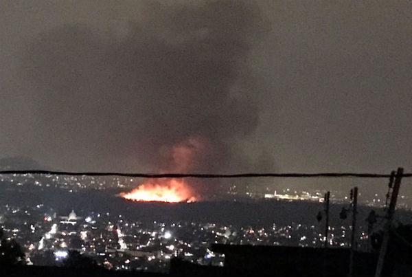 El incendio fue reportado por vecinos al C5 aproximadamente a las 20:45 horas. FOTO:ESPECIAL