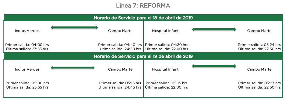 Horario Del Metrobus En Semana Santa