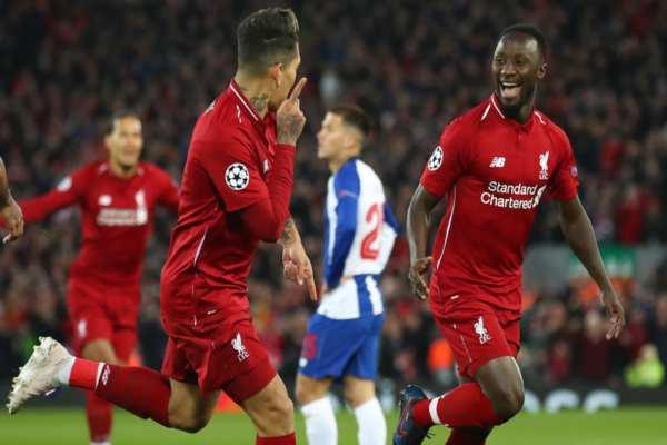 Keïta yFirmino fueron los autores de los goles del conjunto inglés. Foto: UEFA