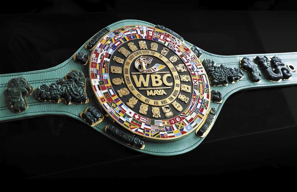 CINTURÓN MAYA. Este es el fajín que se entregará al ganador de la pelea el próximo 4 de mayo, en Las Vegas. Foto: MOISÉS ROSAS