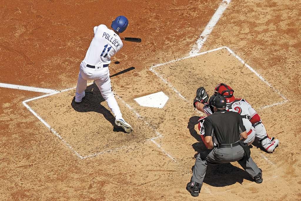 Pollock mantuvo viva la racha de los Dodgers. FOTO: ESPECIAL