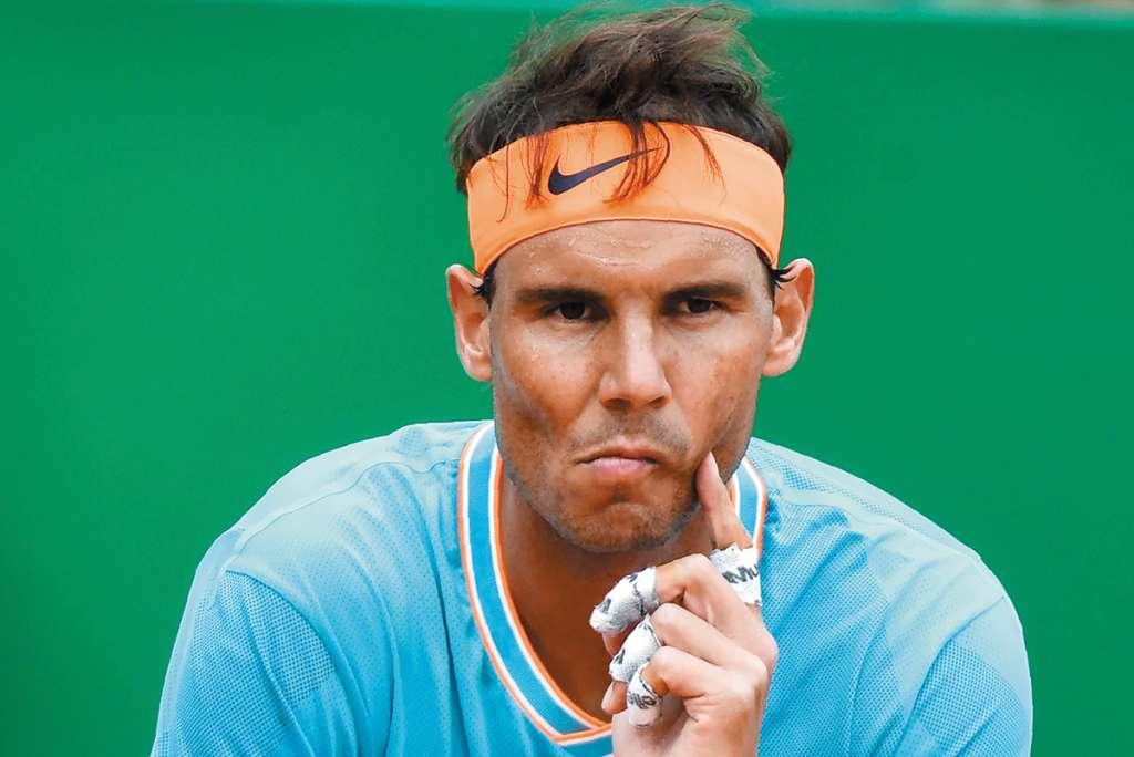 DESCONSOLADO. Rafael Nadal dijo que jugó su peor partido en arcilla en 14 años. Foto: AFP