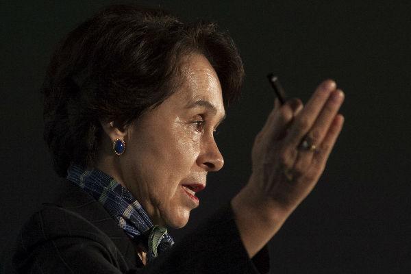 Para el año 1994 fue nombrada presidenta nacional del PRI, lo que la convirtió en la primera mujer al frente del partido