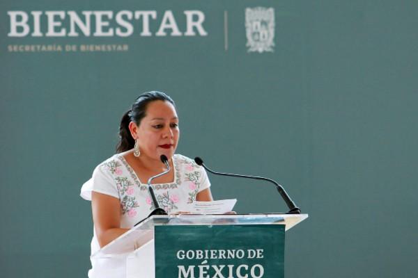 María Luisa Albores dijo que la Secretaría del Bienestar fortalecerá las acciones orientadas a garantizar los derechos de las niñas, niños y adolescentes. Foto: Notimex