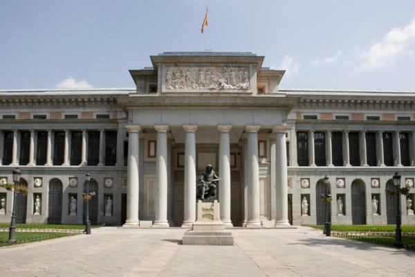 Entrada principal Museo del Prado en España