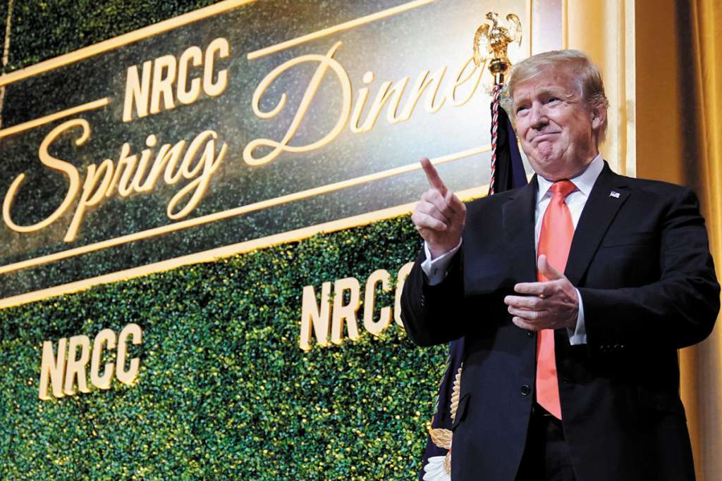 Trump habló en la cena anual de primavera del Comité del Congreso Nacional Republicano. FOTO: REUTERS