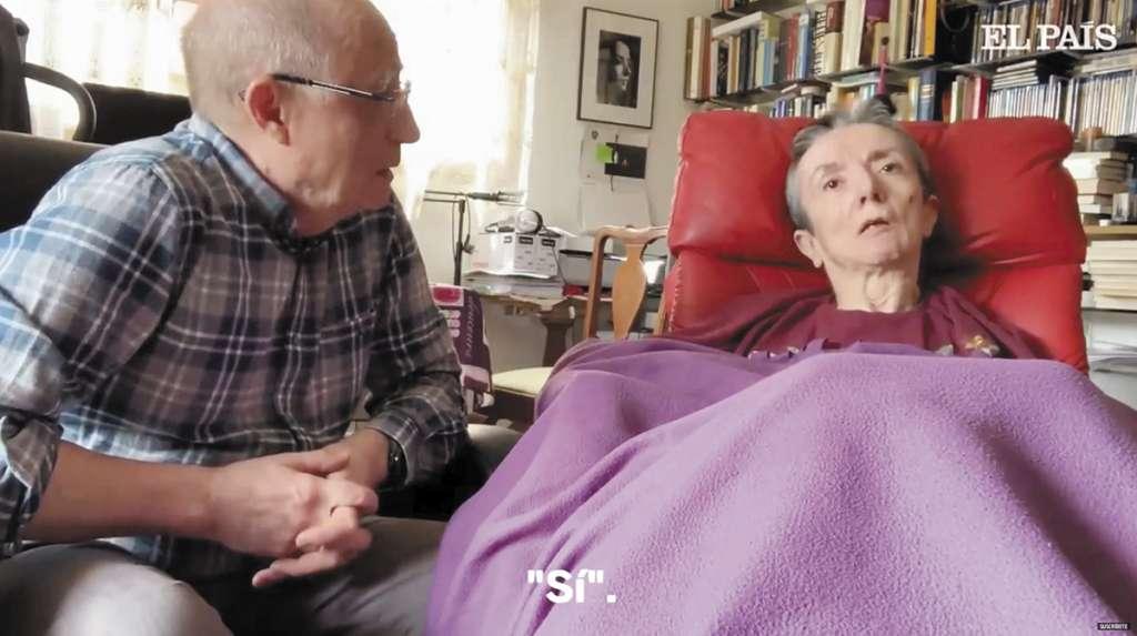 El esposo de María José grabó un video donde confirmó la decisión de su muerte. FOTO: ESPECIAL