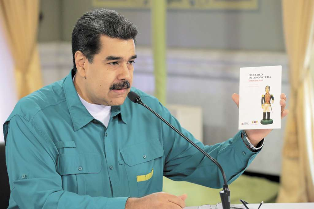 Maduro reconoció que hay una grave escasez de agua en Venezuela. FOTO: AFP