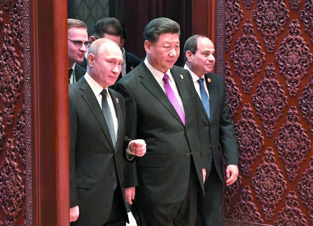 Llegan al II Foro los presidentes Vladimir Putin y Xi Jinping. FOTO: ESPECIAL