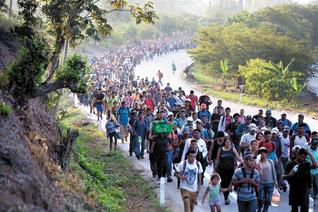 Una nueva caravana migrante ingresó a la frontera sur.FOTO: ESPECIAL