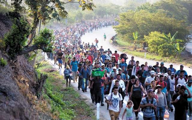 Caravanas migrantes avanzan hacia EU. FOTO: ESPECIAL