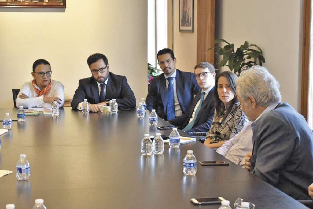 Rosa Icela Rodríguez y Víctor Hugo Romo encabezaron la reunión de ayer.FOTO: ESPECIAL