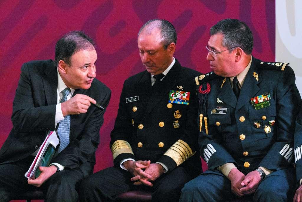 Alfonso Durazo delineó las localidades donde tiene presencia la Guardia Nacional.. FOTO: CUARTOSCURO