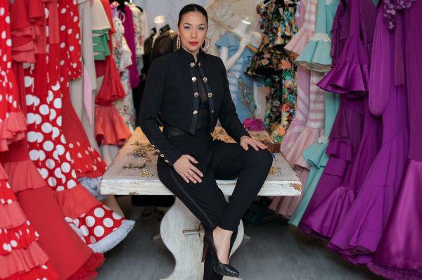 Un traje de flamenco se puede tardar entre tres y cuatro semanas. Foto: Cortesía