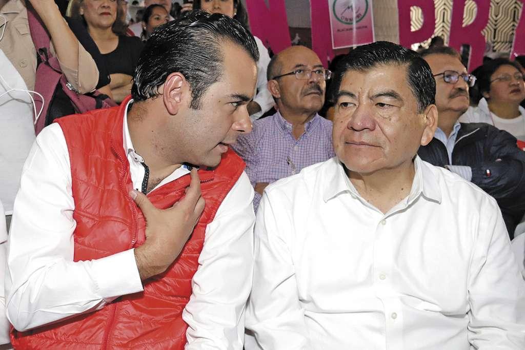 El 15 de marzo de este año Mario Marín acudió a un acto partidista en Puebla. FOTO: ESPECIAL