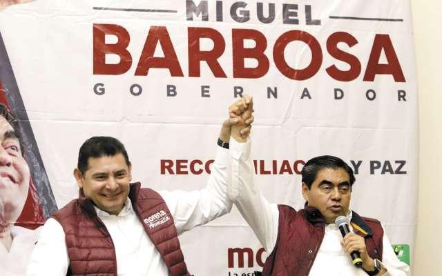 Barbosa Huerta no confirmó si contempla al senador como un miembro de su gabinete.FOTO: ESPECIAL