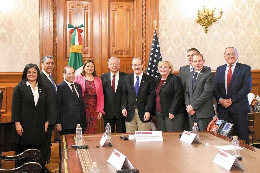 APERTURA. Migración y la situación de Venezuela fueron temas de la reunión en Palacio Nacional. Foto: Especial