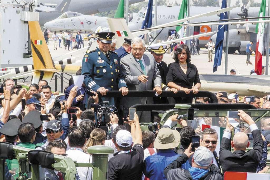 El presidente López Obrador inauguró la tercera Feria Aeroespacial México 2019.FOTO: ESPECIAL