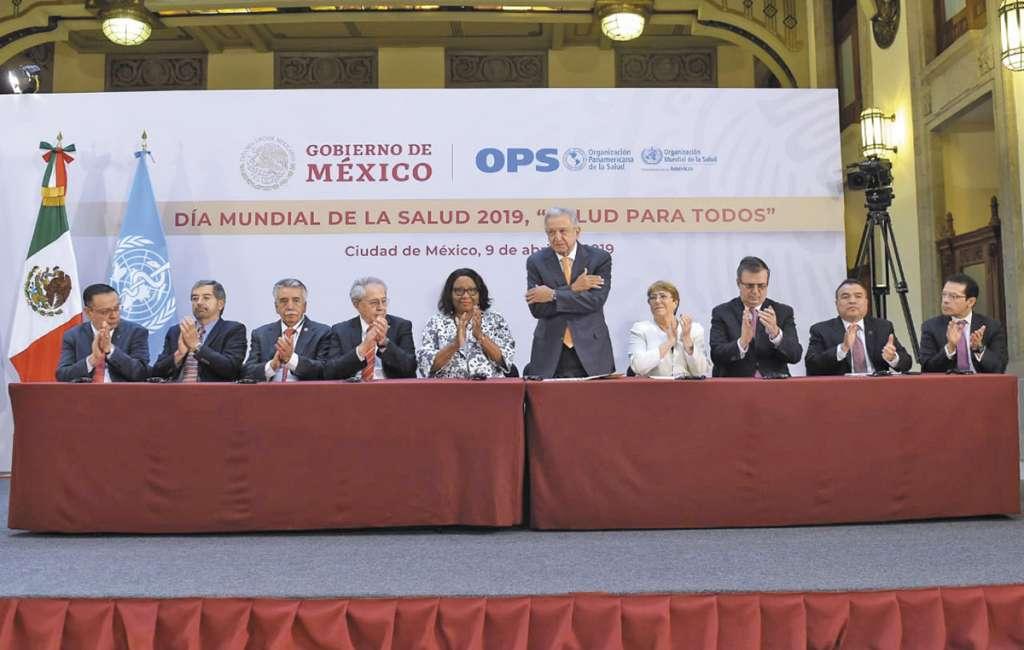 AMLO hizo el anuncio en la conmemoración del Día Mundial de la Salud.FOTO: ESPECIAL