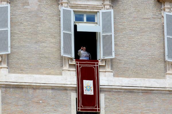 El Papa Francisco previo al Regina Coeli, habló del Evangelio. Foto: Especial