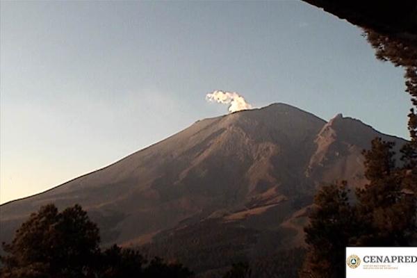 El Semáforo de Alerta Volcánica permanece en Amarillo Fase 3. Foto: @PC_Estatal