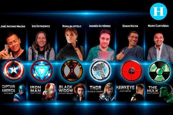 Estos son los actores de prestan sus voces a Los Avengers en Latinoamérica. FOTO: OCTAVIO OCAMPO