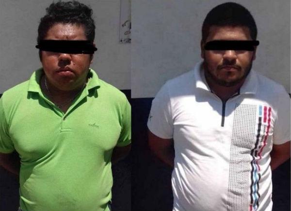 Los detenidos fueron asegurados por los uniformados en la colonia Olmeca. FOTO: ESPECIAL