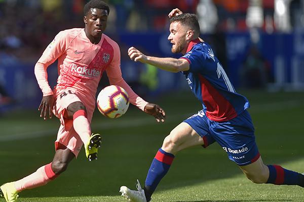 El Barcelona inició con un once inédito. FOTO: AFP