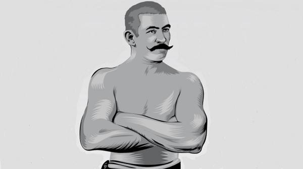 JOHN L. SULLIVAN CAMPEÓN PESO COMPLETO. ILUSTRACIÓN: ALLAN G. RAMÍREZ