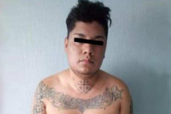 """Bryan Alexis, alias """"El Zodik"""" quien fue detenido junto con dos personas tras u operativo en la colonia Xalpa"""