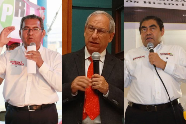 El único debate entre los tres aspirantes será el 19 de mayo en el Complejo Cultural Universitario de la BUAP. Foto: Especial