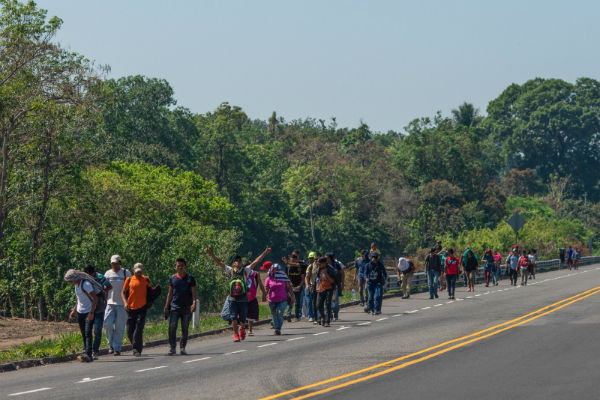 Hasta el día de hoy la caravana la integran más de 4 mil migrantes de Honduras, El Salvador, Guatemala, Nicaragua y Cuba. Foto Cuartoscuro