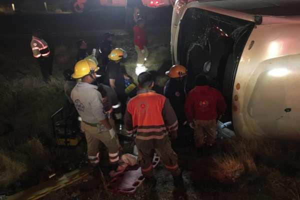 Los heridos fueron trasladados al hospital más cercano. Foto: @PCEstatalZac