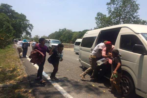 Un tercio de las personas que integran las caravanas de migrantes en el país son niños. Foto: Cuartoscuro