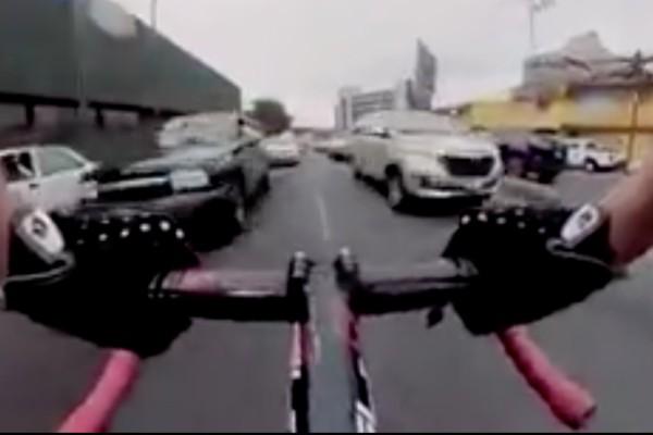 Ciclista en Constituyentes