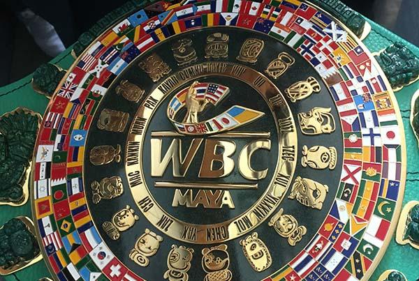 Mauricio Sulaimán, presidente del Consejo Mundial de Boxeo, presentó la última edición del Cinturón 'Adolfo López Mateos: el Cinturón Maya. FOTO: KATYA LÓPEZ