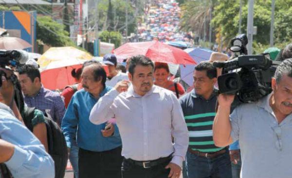 INCONFORMES. La CNTE es el principal opositor a que se haga examen para otorgar las plazas. Foto: Cuartoscuro
