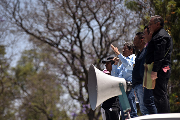 El líder de la sección 22 de la CNTE, en Oaxaca, Eloy López Hernández, dijo que