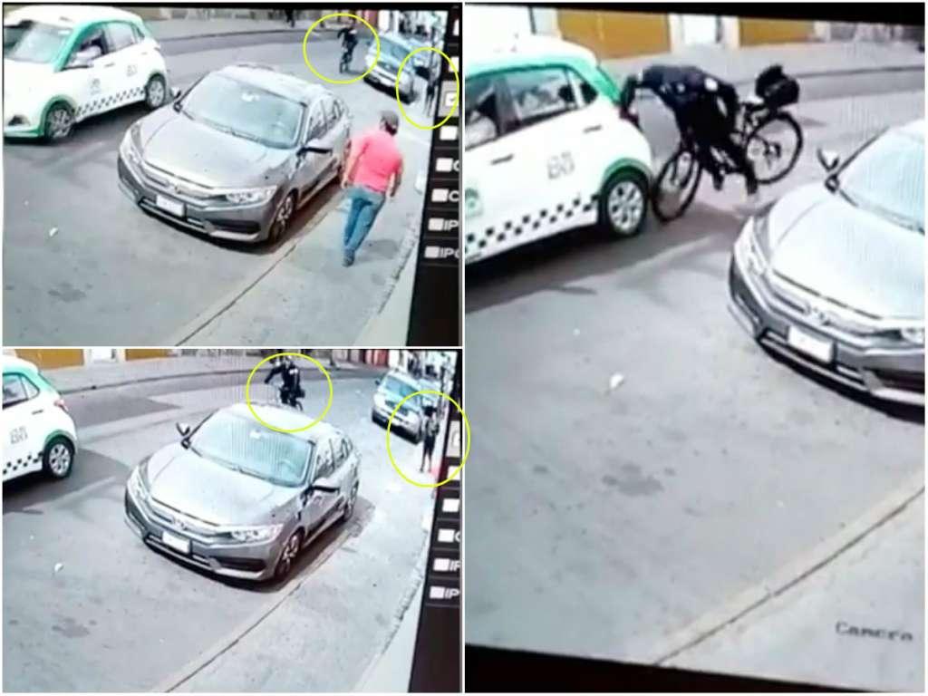 Policía de Durango choca por no dejar de mirar a mujer: VIDEO