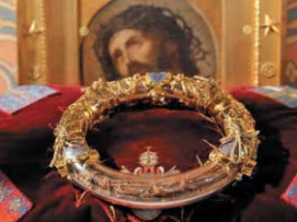 TESORO. Se cree que la corona de espinas fue usada por Jesús durante su crucifixión. Foto: Reuters