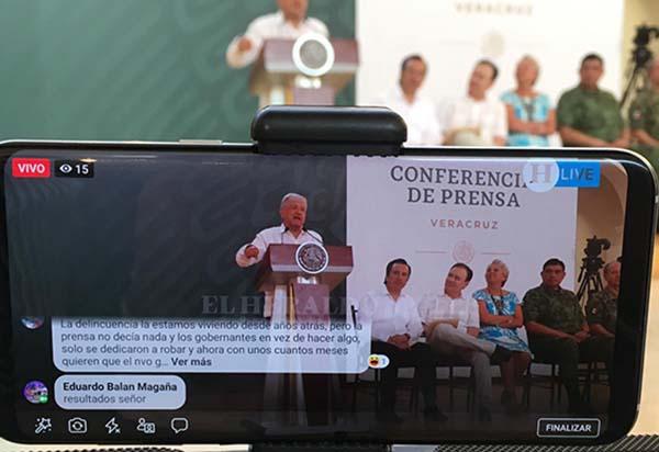 Asimismo, López Obrador dijo que a Veracruz lo ha gobernado autoridades