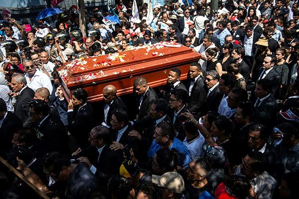 Los restos del expresidente serán cremados. FOTO: AFP