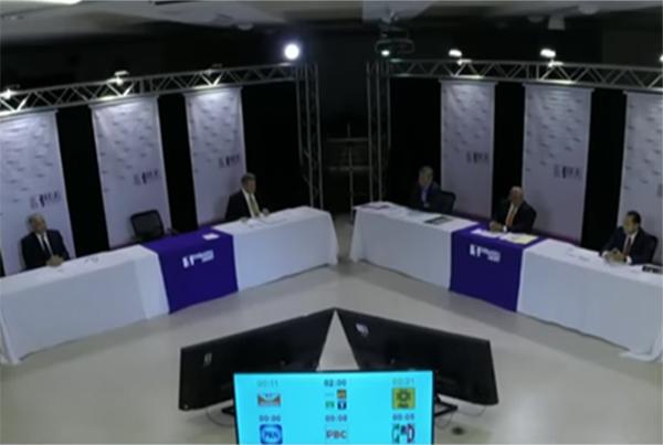 Los aspirantes que participaron en el ejercicio son: Óscar Vega Marín, del PAN; Enrique Acosta Fregoso, del PRI; Ignacio Anaya Barriguete, del PBC; Jaime Martínez Veloz, del PRD; y Héctor Osuna Jaime, de Movimiento Ciudadano.