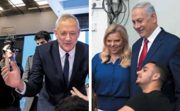 LÍDERES. Benny Gantz y Benjamin Netanyahu se declararon ganadores. Foto: Especial