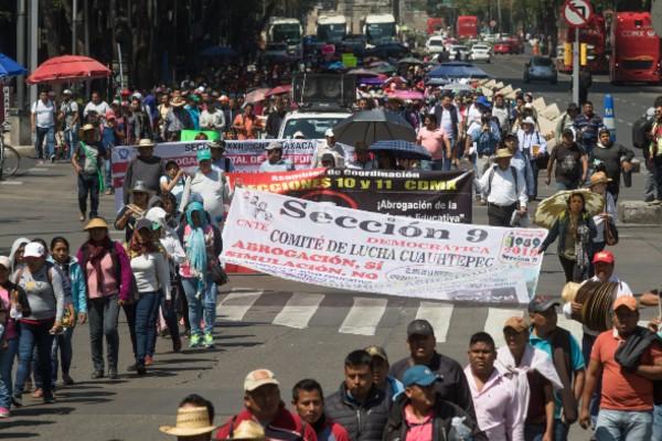 Maestros por México es el portavoz de los trabajadores de la educación. Foto: Cuarto Oscuro
