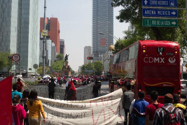 A las 16:00 horas se prevé la presencia de inconformes en Calle Génova, en la colonia Juárez. Foto: Cuartoscuro
