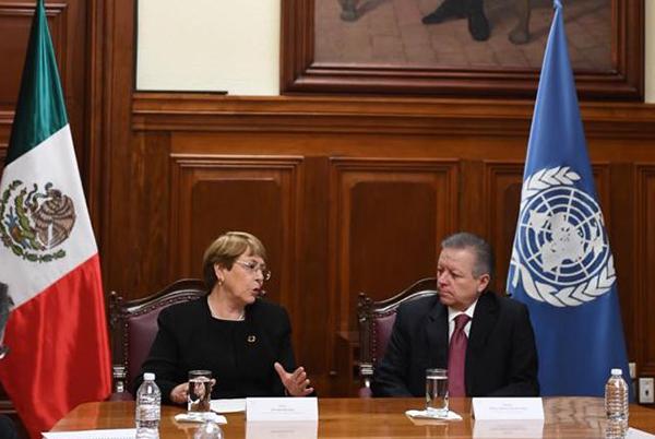 Este lunes, el ministro presidente Arturo Zaldívar se reunió con la alta comisionada de la Organización de las Naciones Unidas (ONU) para los derechos humanos, Michelle Bachelet.
